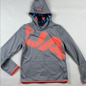 Nwt Under Armour grey boys hooded sweatshirt YLG